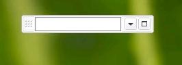 podręczny pasek wyszukiwania, pasek wyszukiwania, pasek zadań