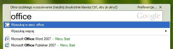 wyszukiwarka plików, Google Desktop, zawartość plików