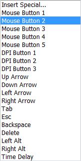 oprogramowanie Microsoft do obsługi klawiatury, lista zdarzeń dostępnych