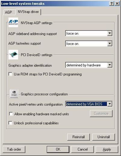 przyspieszanie łącza AGP na starszych płytach głównych, podkręcanie grafiki, overclocking nVidia