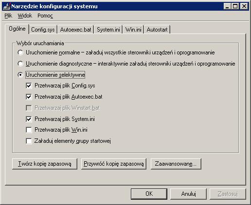 Narzędzie konfiguracji systemu, Optymalizacja Windows 98