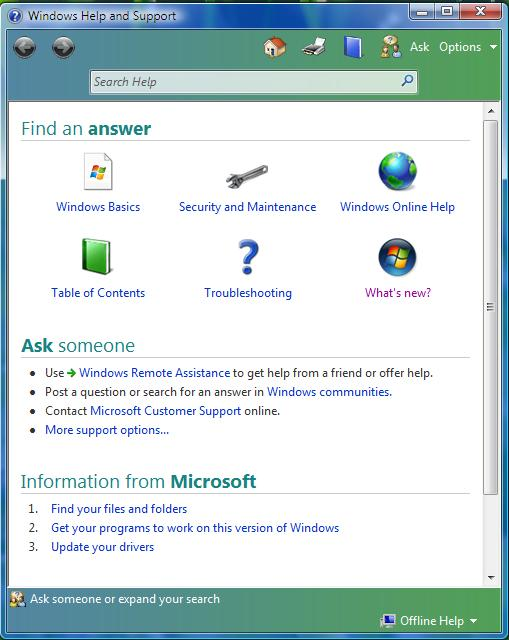 Pomoc systemu Windows