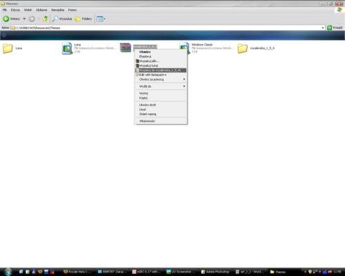 Windows style, styl Windows, własny styl, Luna