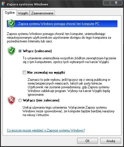 zapora systemu Windows, firewall, firewall za darmo, darmowy firewall