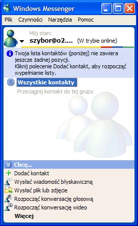 Messenger, MSN, komunikator Windows, komunikator internetowy