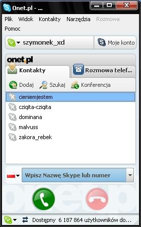 Skype, Onet, rozmowy telefoniczne, VOIP