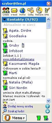 Tlen, internetowy komunikator, poczta o2