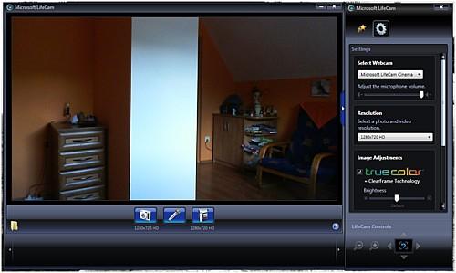 kamerka Microsoft LiveCam program, LiveCam program