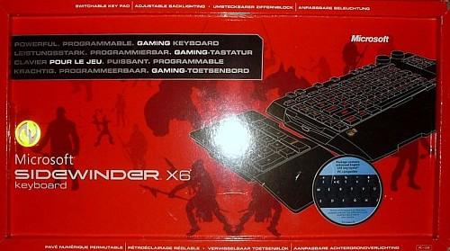 Klawiatura SideWinder X6, test klawiatury Microsoft SideWinder X6