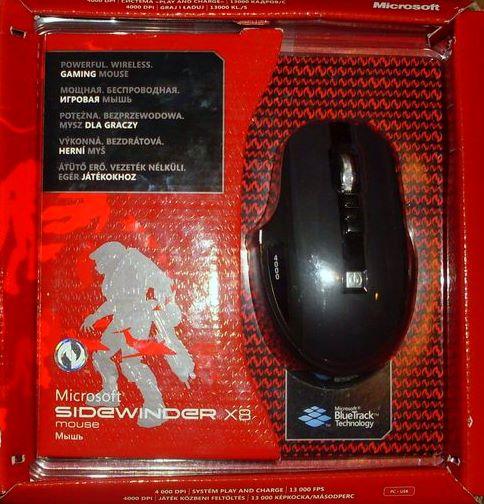 mysz microsoft SideWinder X8, Recenzja myszy Microsft SideWinder X8, mysz Microsft SideWinder X8, Microsft SideWinder X8