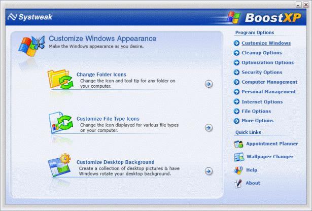 BoostXP, optymalizacja systemu, przyspieszanie Windows, program do optymalziacji