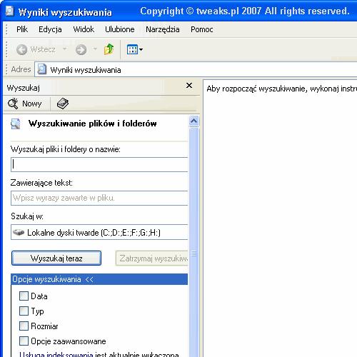 zaawansowane wyszukiwanie plików, wyniki wyszukiwania, zaawansowane wyszukiwanie, wyszukiwarka Windows