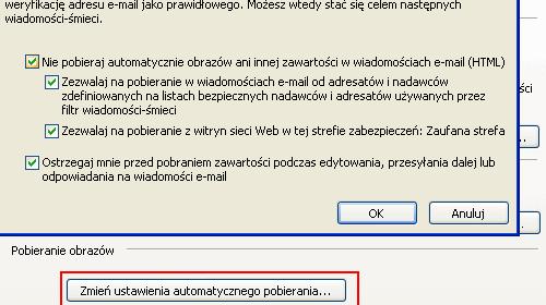Outlook Express, brak obrazków, nie widać obrazków