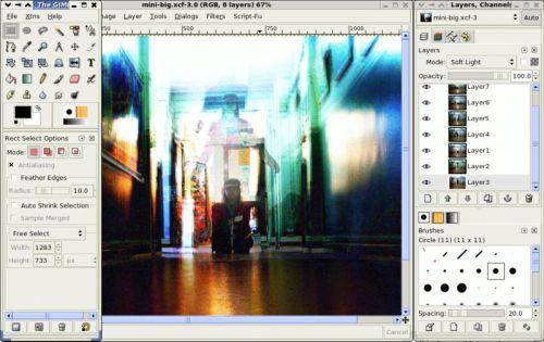 GIMP, zamiennik photoshopa, edytor graficzny