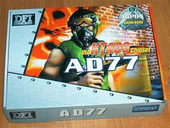 DFI AD77, kt400