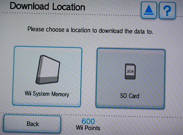 WII Shop download location