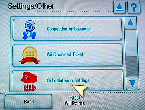 Wii Shop Settings
