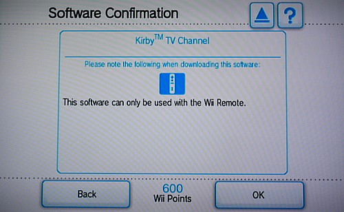 Wii Shop confirmation