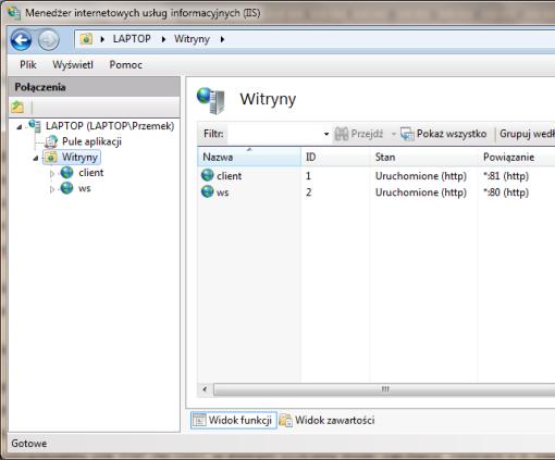 serwer internetowy IIS, windows 7, php