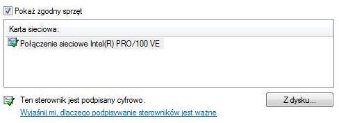 Sterownik zalecany przez Windows, sterownik Windows, certyfikowany sterownik, certyfikaty Windows