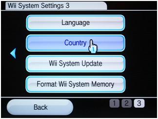 zmiana lokalizacji konsoli WII, ustawienia kraju