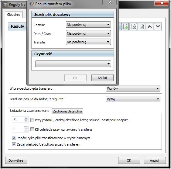 zasady transferu plików FlashFXP