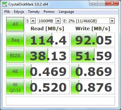 Test Seagate GoFlex Slim CrystalDisk
