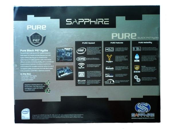 Sapphire Pure Black P67 Hydra opakowanie