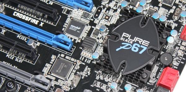 chipset Pure Black P67 Hydra