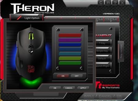 opcje podświetlenia Tt eSport Theron