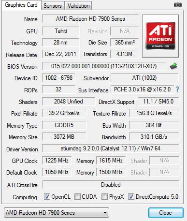 GPU-Z wyniki OC