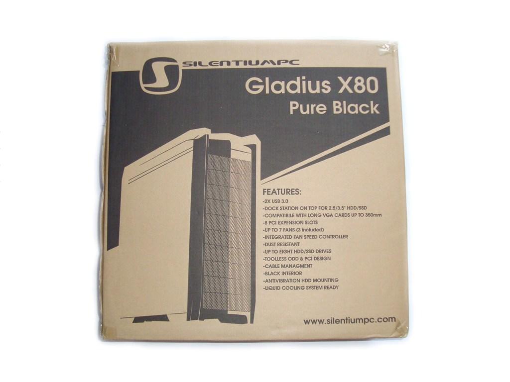 SilentiumPC Gladius X80 Pure Black - wygląd opakowania obudowy