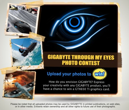 GIGABYTE Through My Eyes konkurs banner