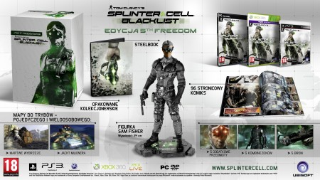 Splinter Cell Blacklist  5th Freedom polska edycja edition