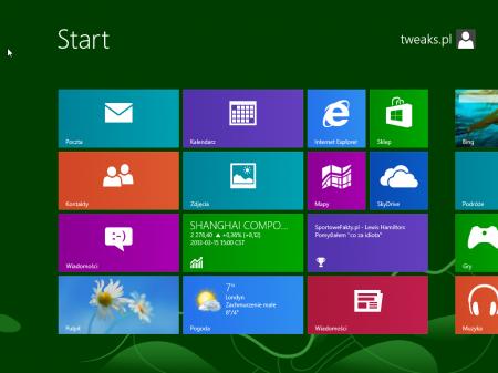 Windows 8 ekran aplikacji