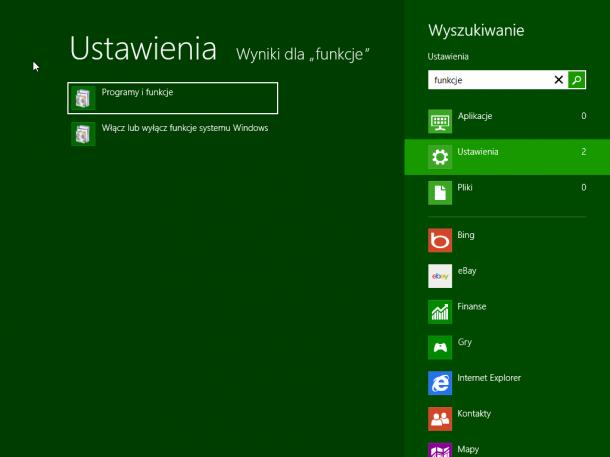 funkcje Windows 8