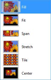 tapeta na dwóch ekranach Windows 8