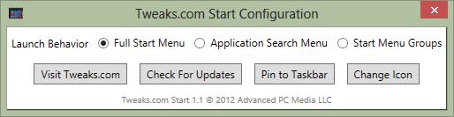 tweaks.com start konfiguracja
