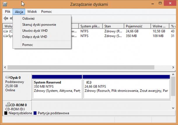 tworzenie dysku VHD Windows 8