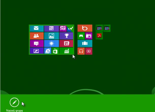 tworzenie grup aplikacji Windows 8