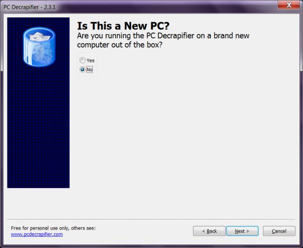 PC Decrapifiter usuwanie śmieci na dysku