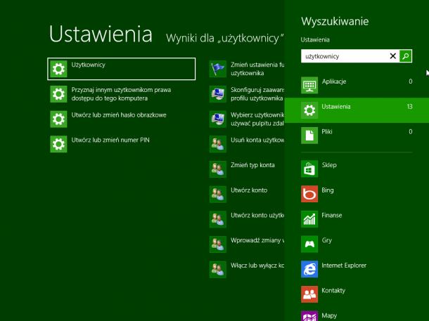 przystawka użytkownicy Windows 8