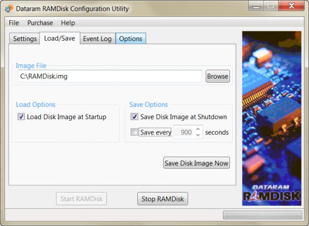 RAMDisk zapisywanie stanu partycji wirtualnej