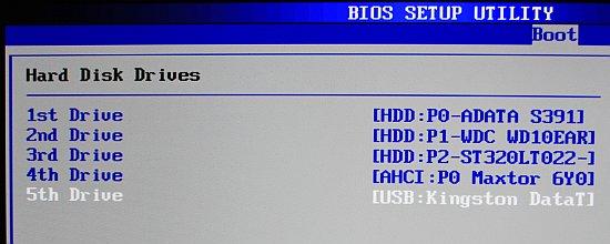 kolejność bootowania dysków BIOS