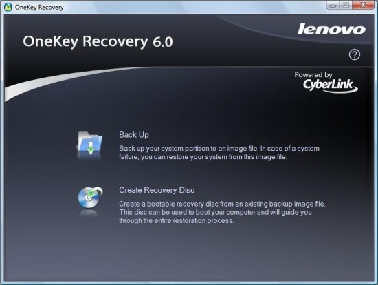 onekey recovery lenovo