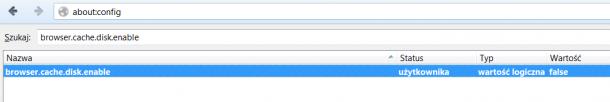 ustawienia cache Firefox