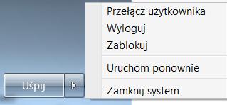 usypianie Windows zmiana klawisza zamknij