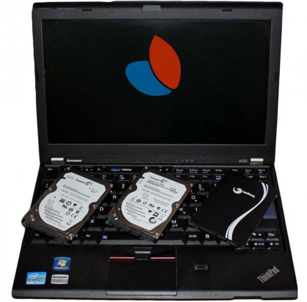Lenovo X220, porównanie dysku SSHD z HDD i SSD