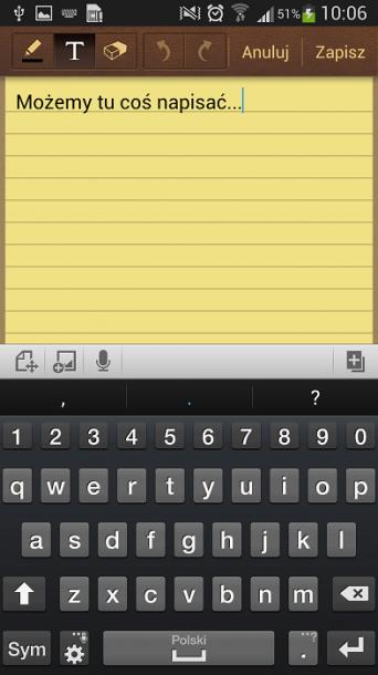 Galaxy S4 S Notatka