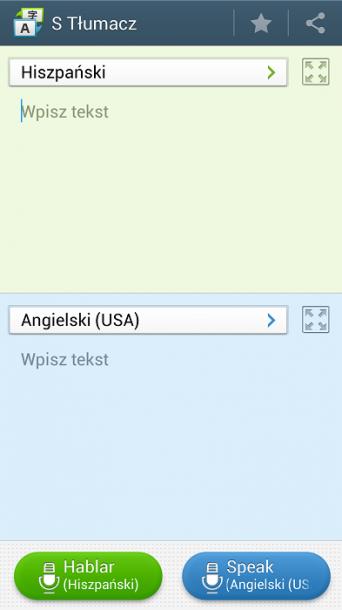 Galaxy S4 S Tłumacz
